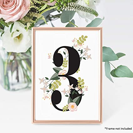 Amazon Fluytco Table Numbers For Wedding Reception And