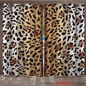 bf9af2b32f Amazon.com   BlountDecor Outdoor Curtain Amur Leopard Fur Seamless ...