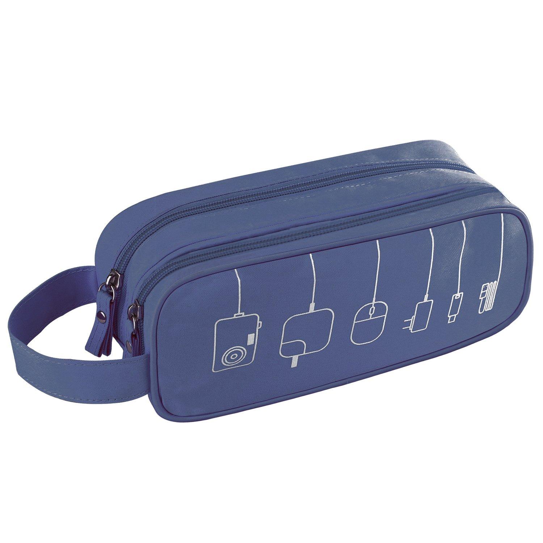 Kitron ( TM )ユニバーサルケーブルコードホルダーオーガナイザー/電子機器アクセサリーケースHealthcare & Grooming Kit USBドライブshuttle-an All in One Travel Organizer (グリーン) M/Medium マルチカラー B01CQTUJ449-Blue M/Medium