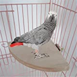 Yosoo 17cm17cm Wooden Parrot Bird Cage Perches Round Coin Stand Platform Budgie Toys Bird Stand for Parakeets
