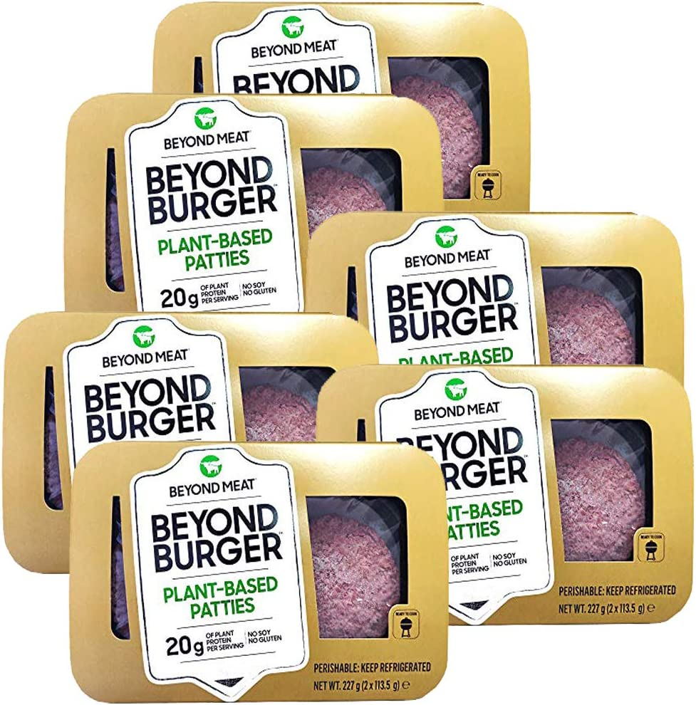 Beyond Meat Burger | Hamburguesa 100% Vegetal | Plant Based | Sin Gluten | Sin Soja | Vegano | 2 porciones (227g) (Pack de 6)