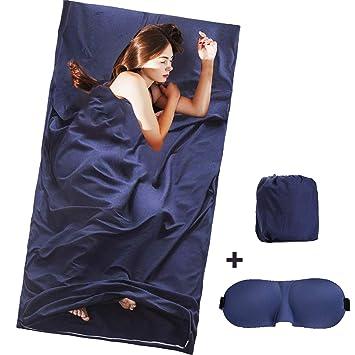 YAMI - Saco de Dormir portátil, Ligero, para Viajes, Camping, con Cubierta