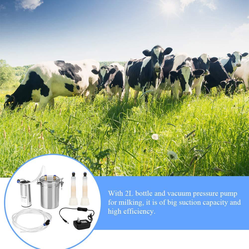 Amazon.com: Máquina de leche eléctrica portátil de acero ...