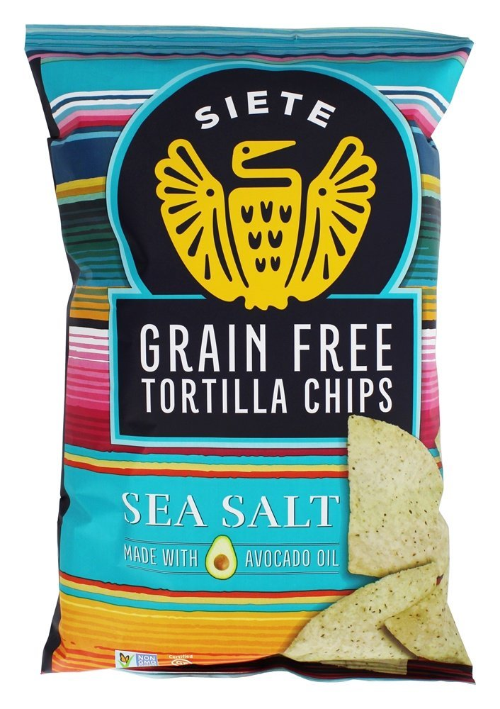 Siete Sea Salt Tortilla Chips, Grain Free, Paleo, Vegan - 5 Ounce (1 Pack)