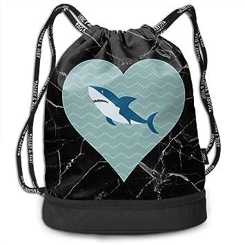 wwoman Bolso Deportivo con cordón I Love Sharks Hombres ...