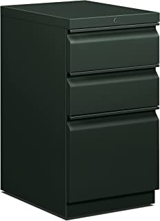product image for HON 33720RS 19-7/8-Inch Efficiencies Mobile Pedestal File with 1 File and 2 Box Drawers, Charcoal