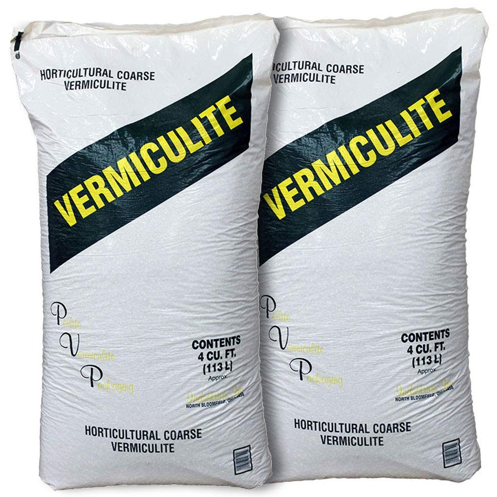 Coarse Vermiculite, 2 PK, 4 Cubic Foot Bag Each by PVP Industries