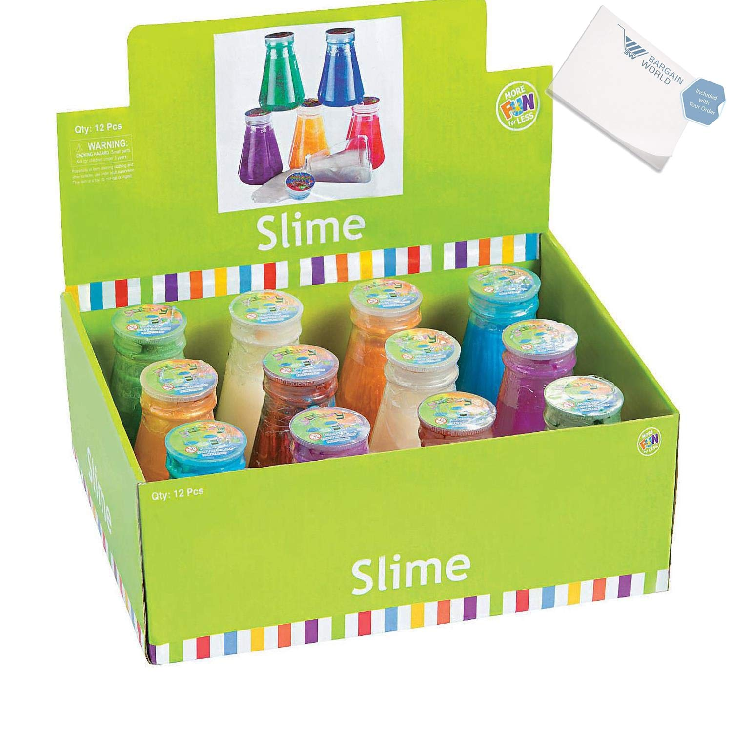 Bargain World Metallic Slime in Laboratory Flasks (With Sticky Notes) by Bargain World (Image #1)