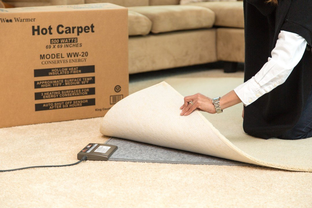 Amazon.com: 500 watt Hot Carpet Woo Warmer Under Rug Heater Radiant Floor  Heater Electric Mat Electric Carpet Electric Heated Area Rug, Dimensions  69.5