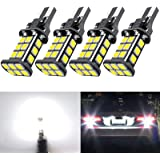 921 LED Car Bulb Upgrade Extremely Bright T15 912 W16W LED 921 Bulbs 3030 Chipsets 24-SMD CANBUS LED Lamps Used for…