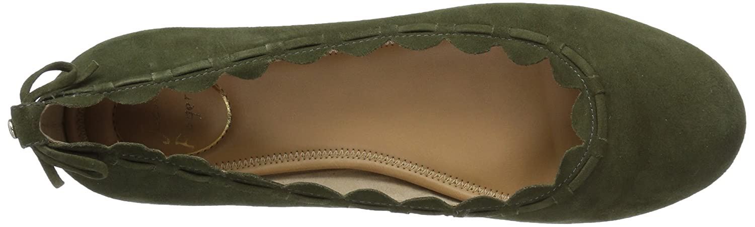 Jack Rogers Women's Lucie Suede Ballet Flat B01NCOZ5S3 8.5 B(M) US|Olive Suede