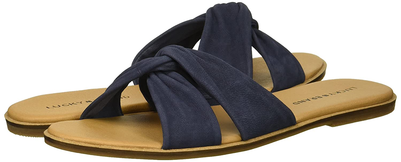 Lucky Brand B077JJ8WBX Women's Dezzee Slide Sandal B077JJ8WBX Brand 8 M US Indigo 8c0ff0