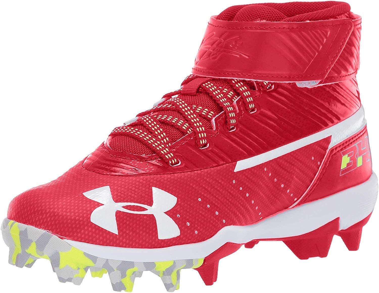Under Armour Kids Harper 3 Mid Jr Rm Baseball Shoe