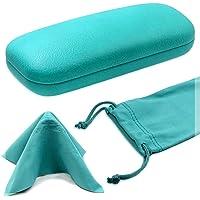 MyEyeglassCase Medium Protective Hard Shell Eyeglasses Case Small Sunglasses Case W/Cleaning Cloth
