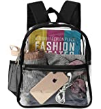 Clear Backpack Mini Stadium Approved, Cold-Resistant See Through Backpack, Water proof Transparent Backpack for Work…