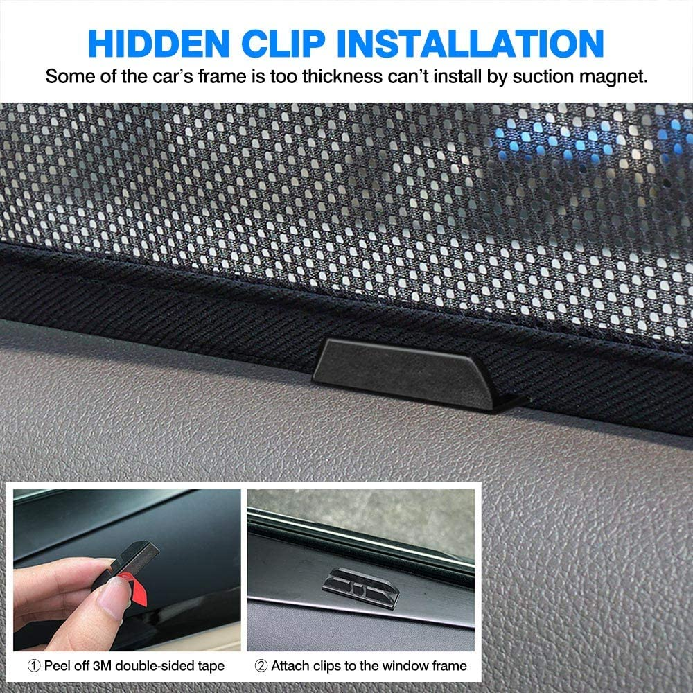 Powerty Magnet Window Shade Custom Side Window Sunshades UV Rays Protection for Toyota RAV4 2019 2020 6PCS