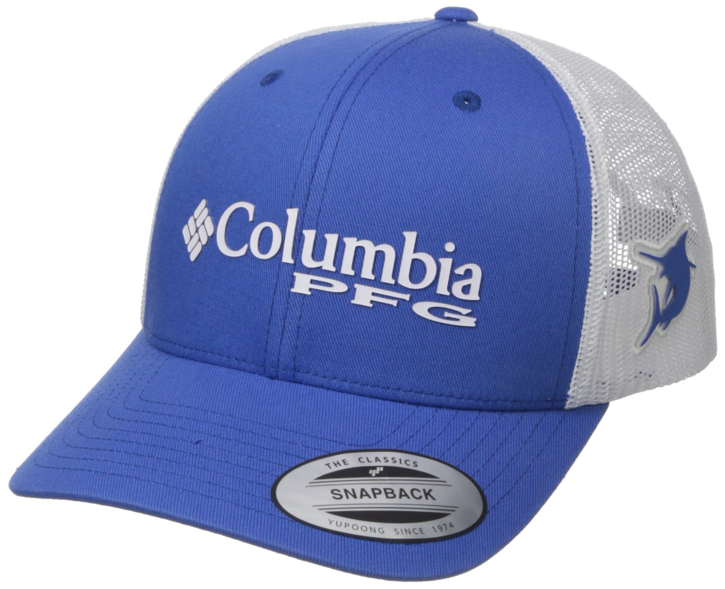 Columbia PFG Mesh Snap Back Ball Cap Cupid Gingham Fish One Size 1714811