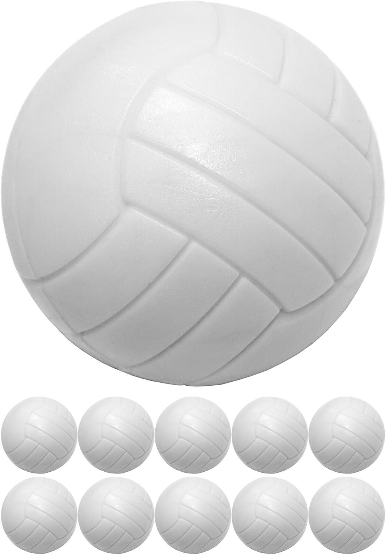 10 piezas bolas de kicker hechas de ABS, color: blanco, duro y ...