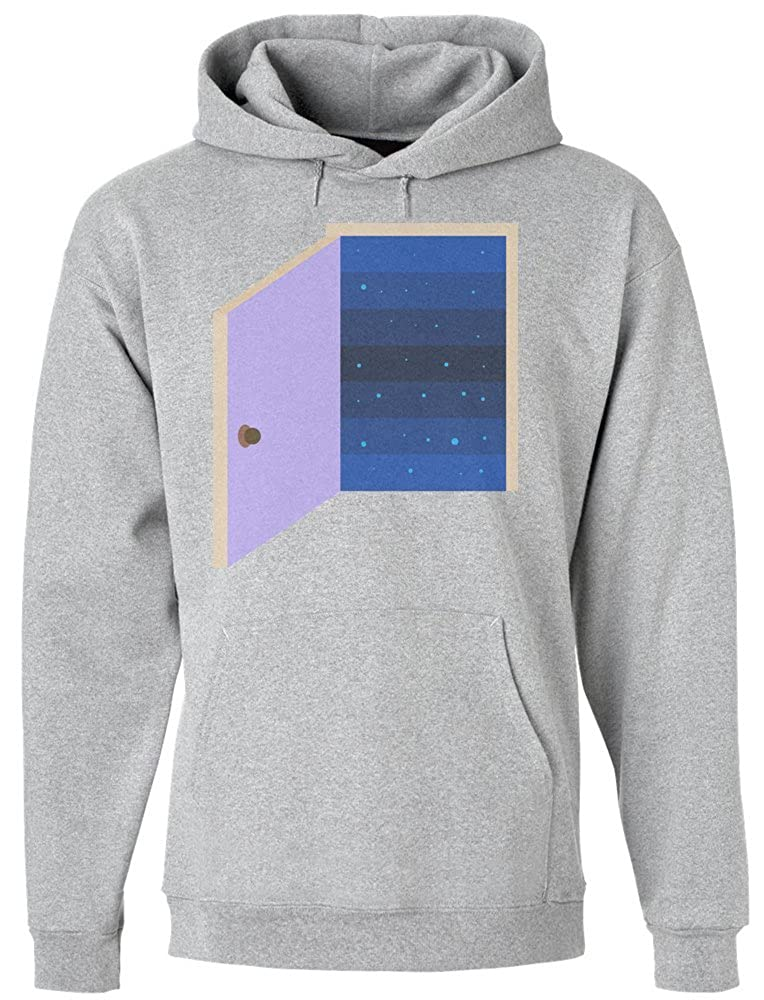 IDcommerce Awesome Door Leading to Space Mens Hoodie Pullover