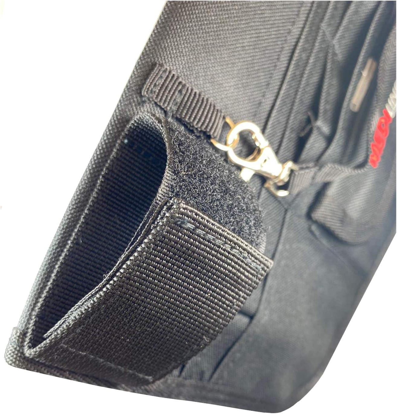 Pochette pour infirmi/ère v/ét/érinaire avec ceinture r/églable Noir