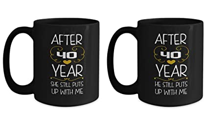 40th Wedding Anniversary Gifts Set After 40 years funny marriage mug