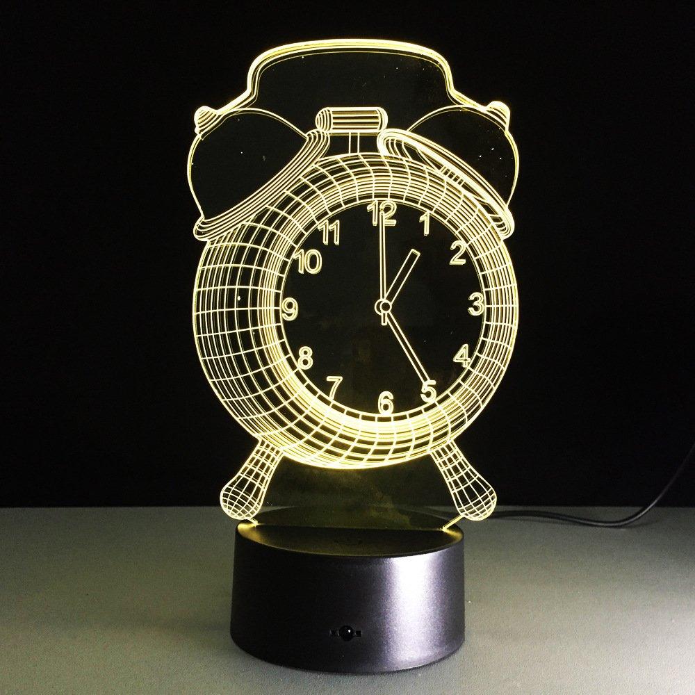 gzcrdz 3dランプアラームクロックBest Gift For Children LED Night Light家具装飾カラフルな7色変更家庭用ホームアクセサリー XCP-L053  Alarm clock B06Y4XKVCN
