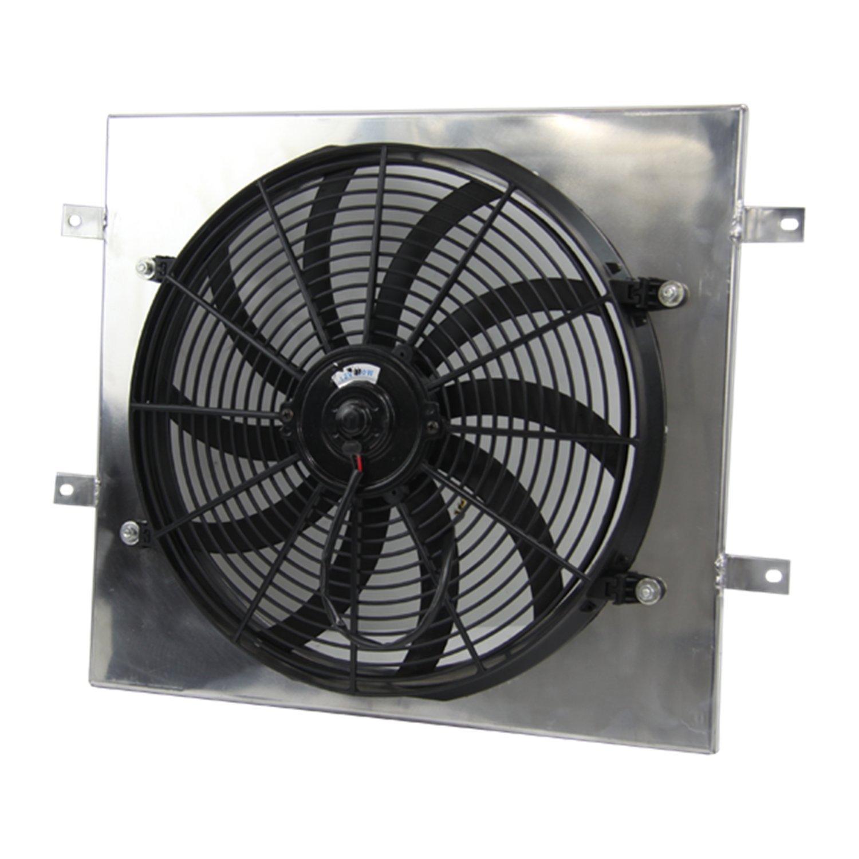 ALLOYWORKS Fan Shroud + 16'' Electric Cooling Fan for 87-06 Jeep Wrangler YJ TJ 2.4L-4.2L by ALLOYWORKS