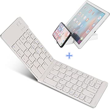 Teclado Bluetooth plegable, IKOS Ultra Slim Mini Teclado plegable ...