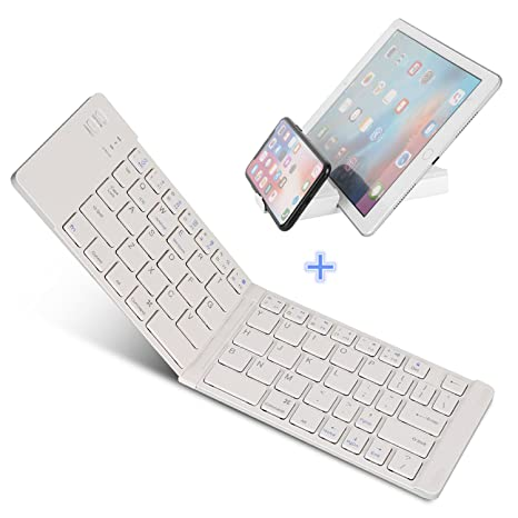 5d619240658 Foldable Bluetooth Keyboard, IKOS Ultra Slim Mini BT Folding Keyboard  Compatible for iPhone X 8