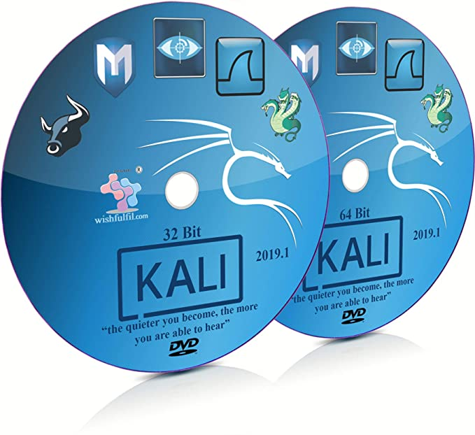 Kali Linux 2019 1 GNOME 32 Bit and 64 Bit Live Bootable Installation DVD