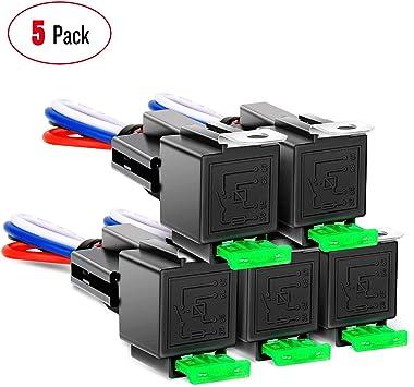 12V 30Amp 30A Red LED Light SPST OFF//ON Toggle Rocker Switch Car Sales