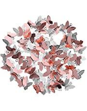 HOMYL 100 Pieces Copper Butterfly Dangle Charms Pendants Jewelry Making Findings for DIY Bracelet Necklace
