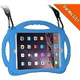 [New Design]TopEs iPad Mini Case Kids Shockproof Handle Stand Cover for iPad Mini, Mini 2, Mini 3 and iPad Mini Retina Models (Blue)