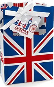 Big Dot of Happiness Cheerio, London - British UK Party Favor Boxes - Set of 12