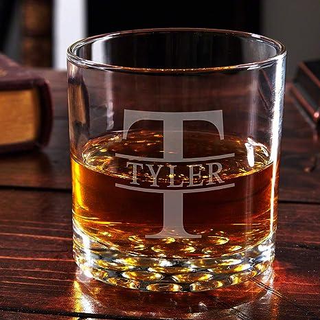 Amazon Com Oakmont Buckman Personalized Whiskey Glass Custom Product Old Fashioned Glasses