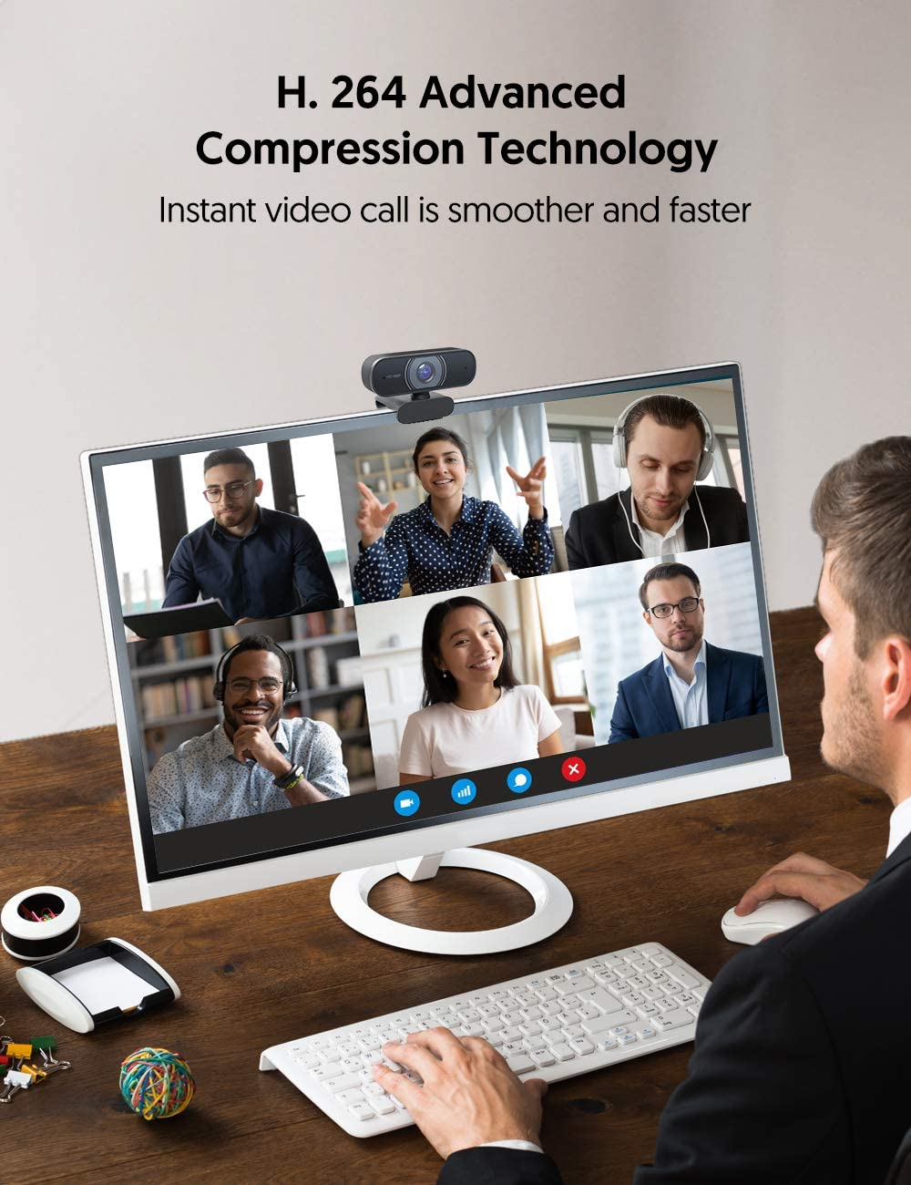 Video Calling WebEx Victure Webcam with Dual Microphones MAC Studying Desktop /& Laptop Plug and Play USB Camera for YouTube 1080P Full HD Streaming Webcam for PC Skype Conferencing