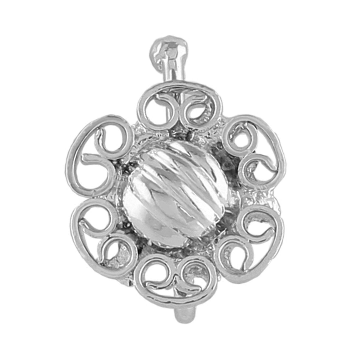 AccessHer flower shaped silver nose pin/nath for women,girls