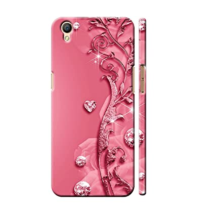 hot sale online e1a9d 211b9 Clapcart OPPO A37F / Oppo A37 Designer Printed Back Cover for Oppo A37 /  Oppo A37f / Oppo A37 F - Pink Color (Heart Design Print For Girls)