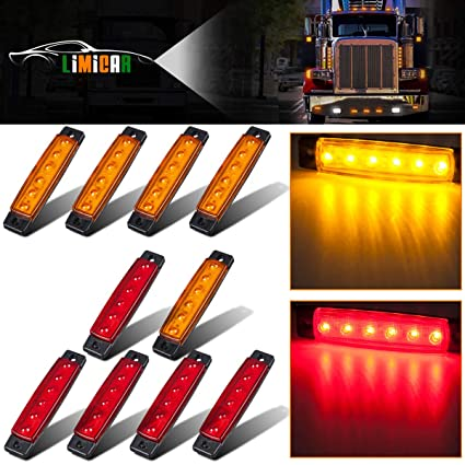 Truck Light System New Blue Truck Light 10pcs 6 Led Truck Lorries Bus Clearance Side Marker Indicators Light Lamp Amber Blue Attractive Designs;