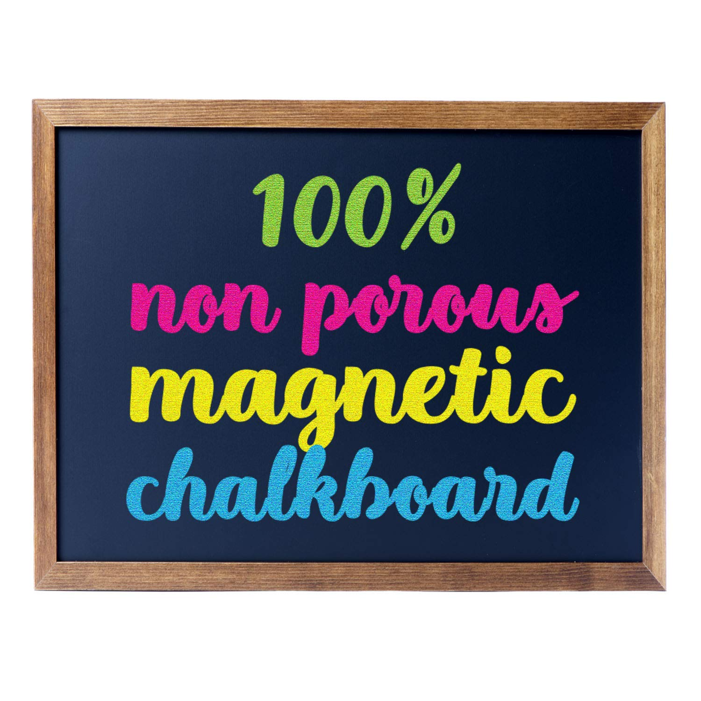 Cedar Markers 27''x20'' Framed Chalkboard Sign. 100% Non-Porous Erasable Blackboard and Whiteboard. Chalk Board for Chalk Markers. Magnet Board Decorative Chalkboard for Every Event (27x20) by Cedar Markers