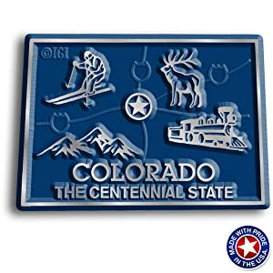 Colorado State Map Magnet