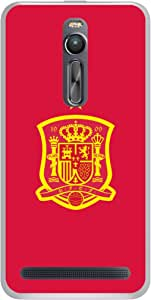 ColorKing Football Spain 12 Red shell case cover for Asus Zenfone 2