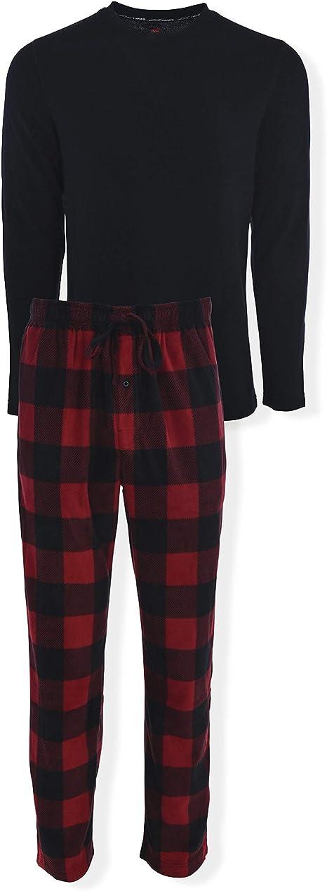Hanes Conjunto de pijama de dos piezas sin etiqueta para hombre