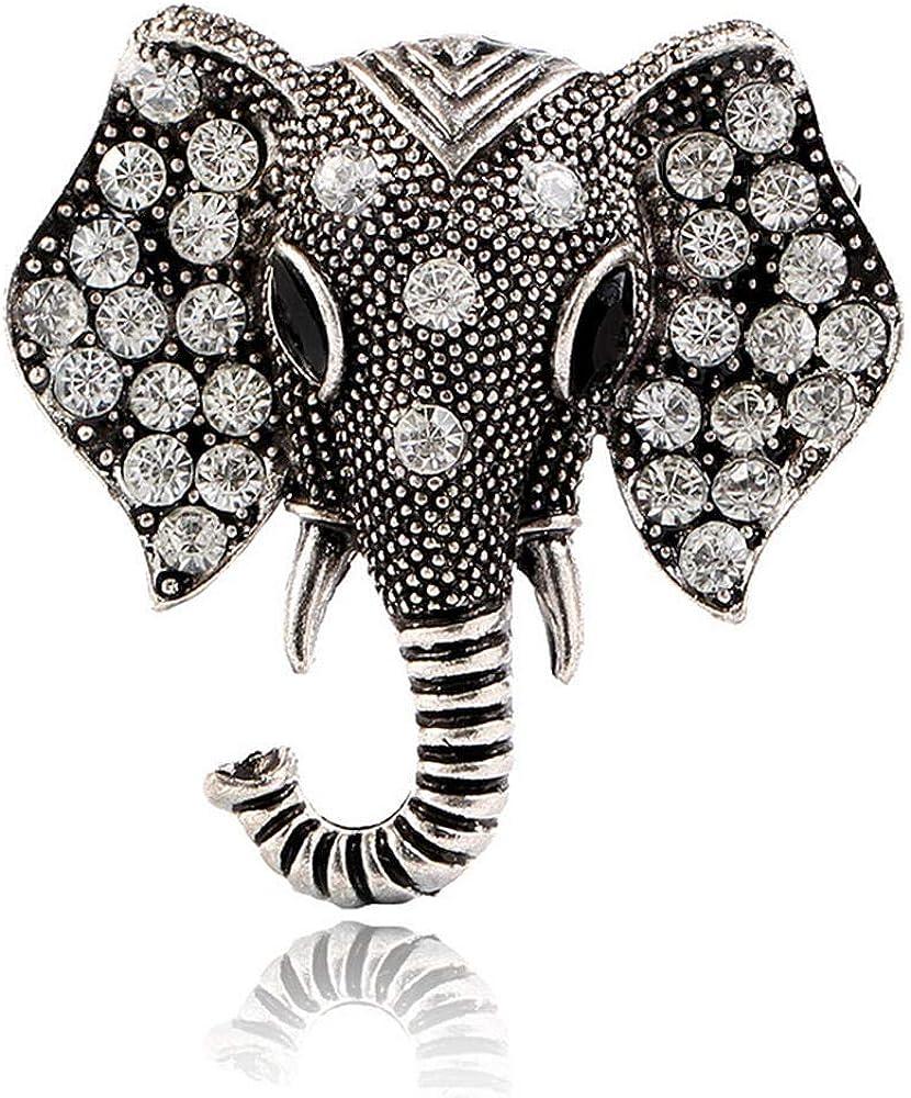 Alloy Diamond Elephant Animal Retro Style Snowman Christmas Tree BJINUIY Brooch Pins Breastpin Corsage