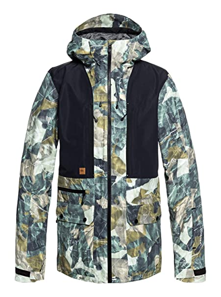 Amazon.com: QUIKSILVER Mens Black Alder 2l Gore-tex Snow ...