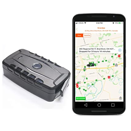 Magnetic GPS Tracker for Vehicles Car Truck Boat, Real Time GPS Tracking,  Rechargeable Long Life Battery, Portable, Water Resistant (Includes SIM