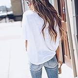 Seamount Women Stars Print T-Shirt Tie Casual Short Sleeve Tops