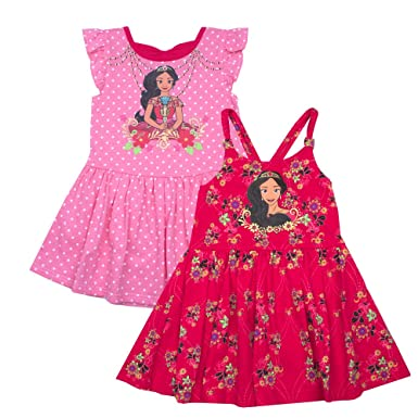 9ead9f7c6a23 Amazon.com  Elena of Avalor Girls Dress - 2 Pack of Disney Dresses ...