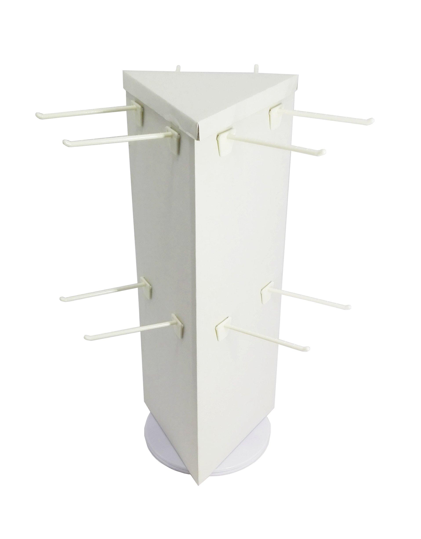 FixtureDisplays Corrugated Socks Display Rotating Peg Hook Display Coutertop Display Rack 18102-NPF