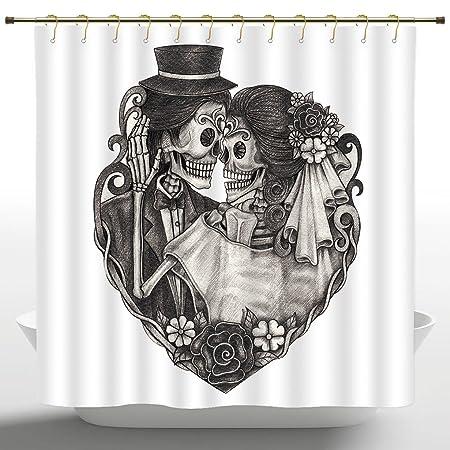 Cortina de ducha de poliéster de iPrint, decoración de tatuaje ...